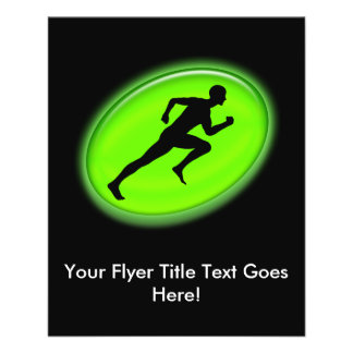 """Green Glow Fitness and Personal Training Logo 4.5"""" X 5.6"""" Flyer"""