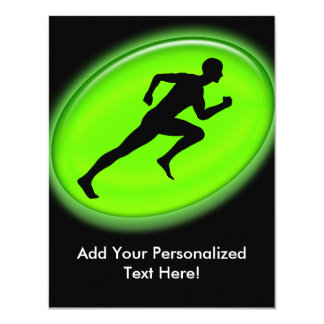 Green Glow Fitness Logo Card