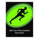 Green Glow Fitness Logo Custom Invites