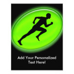 Green Glow Fitness Logo 4.25x5.5 Paper Invitation Card