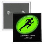 Green Glow Fitness Logo Pins