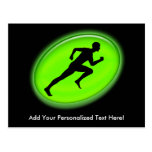 Green Glow Fitness Logo Post Cards