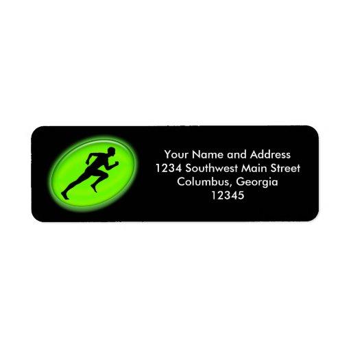 Green Glow Fitness Logo Return Address Label