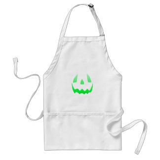 Green Glow Happy Halloween Adult Apron