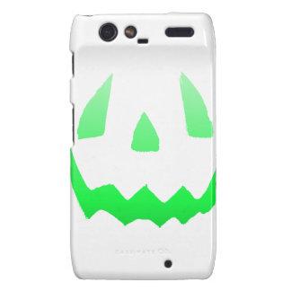 Green Glow Happy Halloween Motorola Droid RAZR Cases