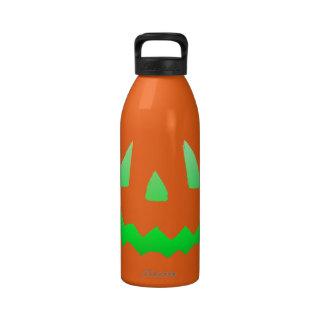 Green Glow Happy Halloween Water Bottles