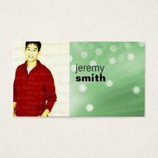 Green Glow Headshot Business Card