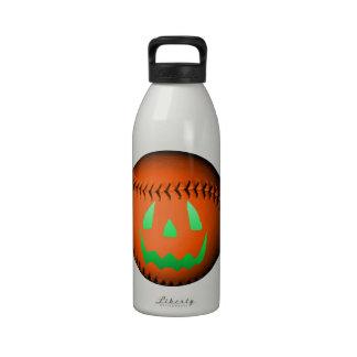 Green Glow Jack O' Lantern Baseball Water Bottle