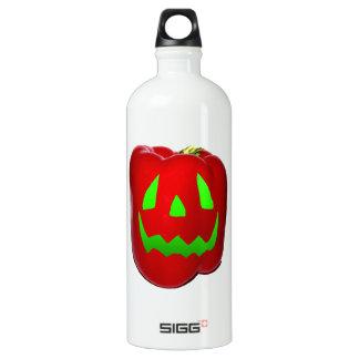 Green Glow Red Bell Peppolantern Aluminum Water Bottle