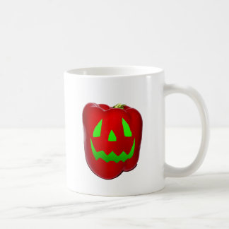 Green Glow Red Bell Peppolantern Coffee Mug