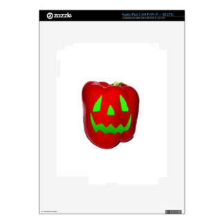 Green Glow Red Bell Peppolantern Decal For iPad 3