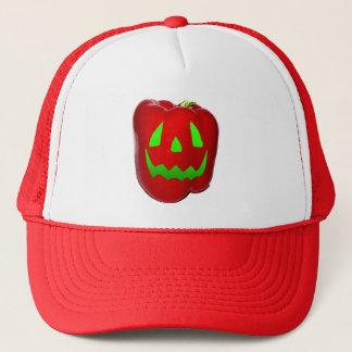 Green Glow Red Bell Peppolantern Trucker Hat