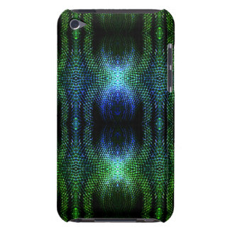 Green Glow Snake Skin Barely There iPod Case
