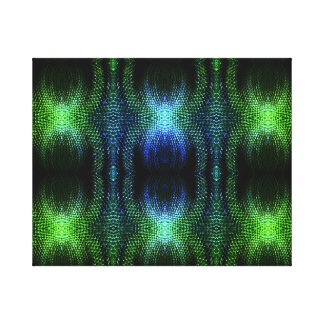 Green Glow Snake Skin Stretched Canvas Prints