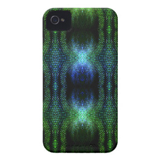 Green Glow Snake Skin iPhone 4 Case-Mate Cases
