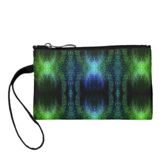 Green Glow Snake Skin Coin Purse