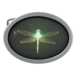 Green Glowing Dragonfly belt buckle