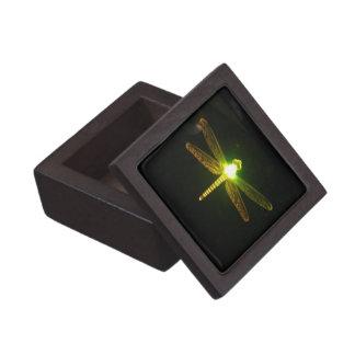Green Glowing Dragonfly Gift Box Premium Keepsake Boxes