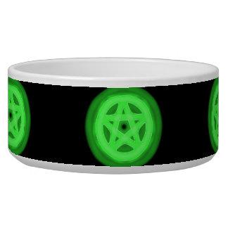Green glowing pentacle pet bowl