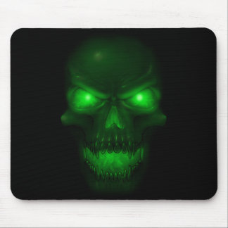 Green Glowing Skull Mouse Mats