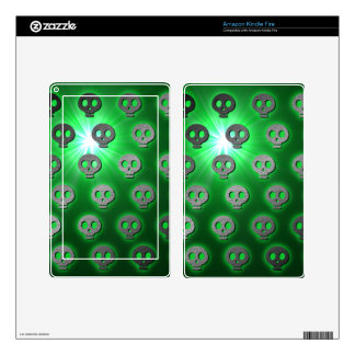 Green Glowing Skulls Kindle Fire Zazzle Skin Kindle Fire Decal