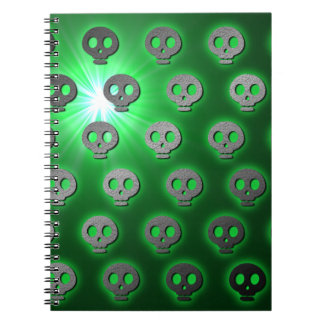 Green Glowing Skulls Notebook