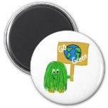 Green go green planet fridge magnets