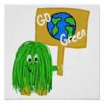 Green go green planet posters