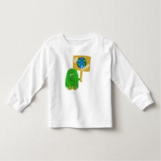 Green go green planet toddler t-shirt