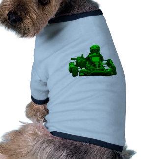 Green Go Kart Racer Dog Tee Shirt
