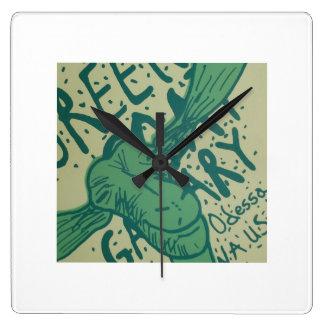 Green Goat Gallery Clock