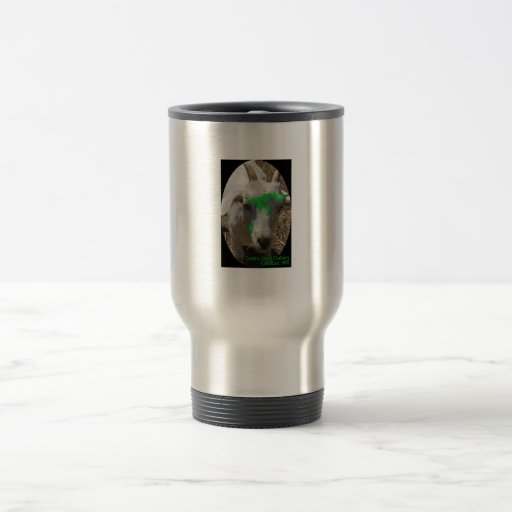 "Green Goat Gallery ""Pushy"" 15 Oz Stainless Steel Travel Mug"