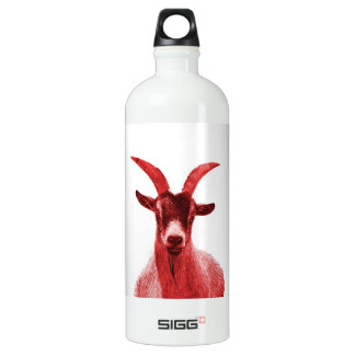 Green Goat Head Aluminum Water Bottle