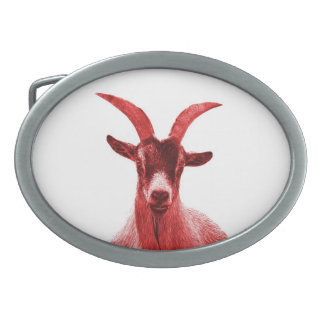 Green Goat Head Belt Buckle