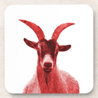 Green Goat Head Beverage Coaster