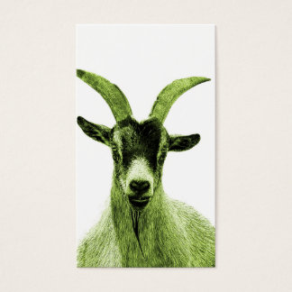Green Goat Head Business Card