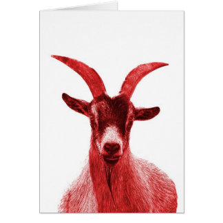Green Goat Head Card