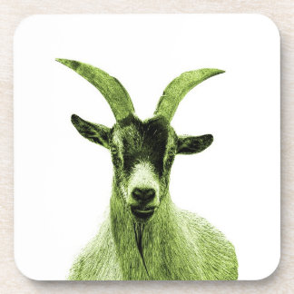 Green Goat Head Coaster