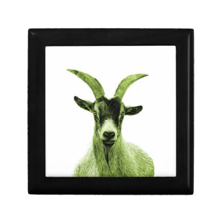 Green Goat Head Gift Box