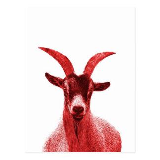 Green Goat Head Postcard