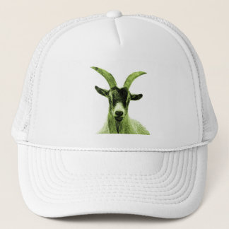 Green Goat Head Trucker Hat