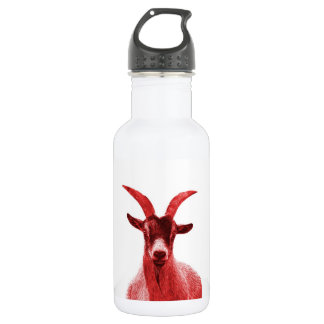 Green Goat Head Water Bottle