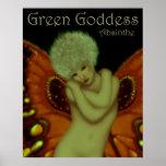 Green Goddess Absinthe Poster