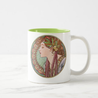 Green Goddess Art Two-Tone Coffee Mug