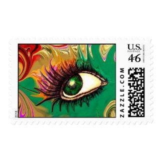 Green Goddess Postage Stamp