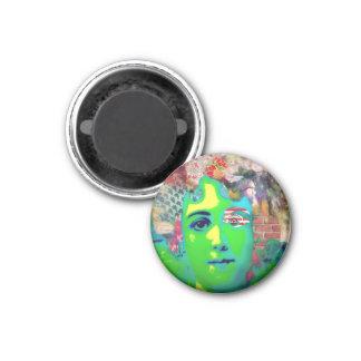 Green Goddess Psychedelic Magnet