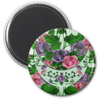 Green Goddess Upright Crescent 2 Inch Round Magnet