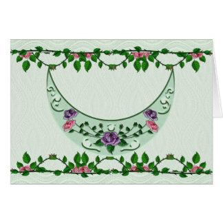 Green Goddess Upright Crescent Card