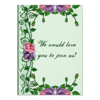 Green Goddess Upright Crescent 4.5x6.25 Paper Invitation Card