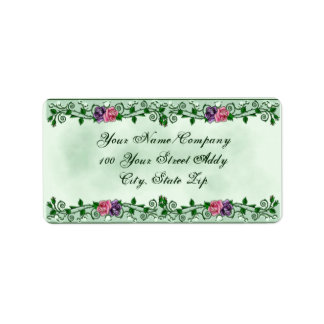Green Goddess Upright Crescent Personalized Address Labels